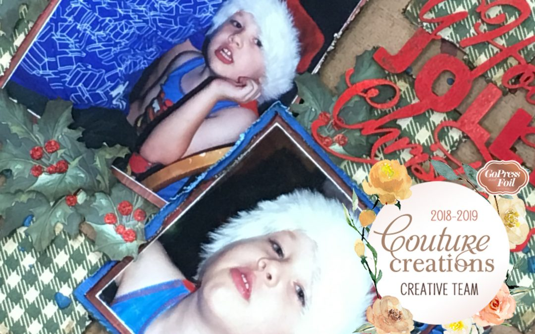 Couture Creations DT Reveal | Highland Christmas Scrapbook Layout