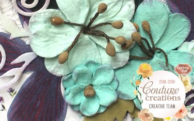 Couture Creations DT Reveal |Le Petit Jardin | Blossom Layout