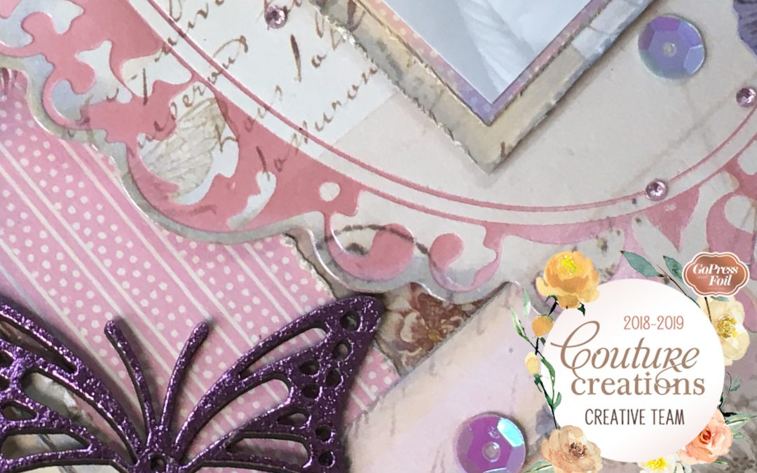 Couture Creations DT Reveal |Live Love Laugh Butterfly Garden Layout