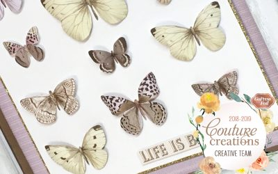 Couture Creations DT Reveal |Butterfly Garden | Framed Butterflies