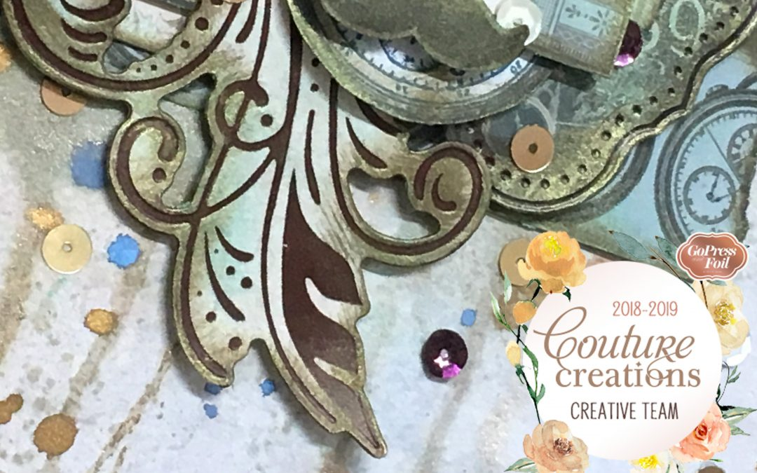 Couture Creations DT Reveal | Gentleman's Emporium | Scrapbook Layout