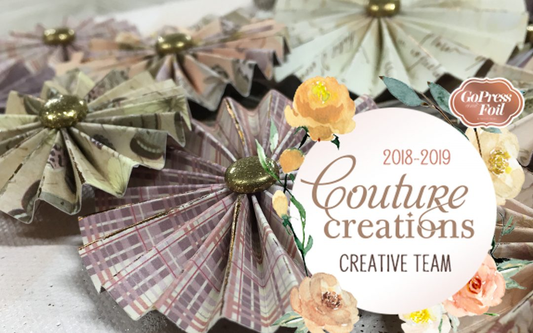 Couture Creations DT Reveal | Scoring Board Rosette Canvas Part 3