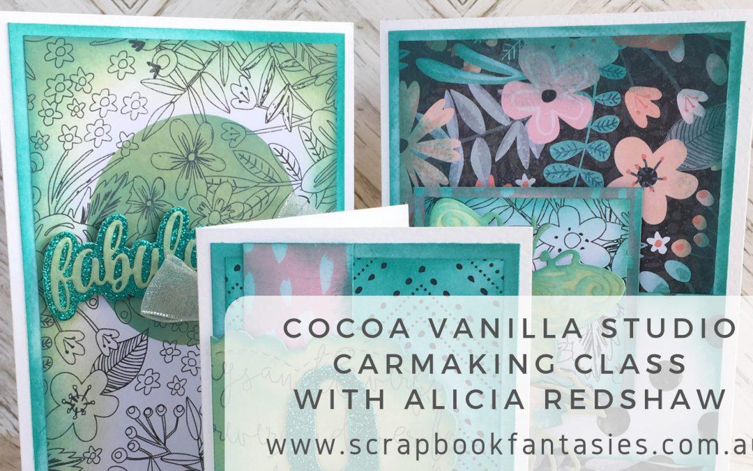 Cocoa Vanilla Studio Cardmaking Class